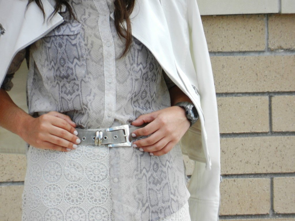 silver statement belt