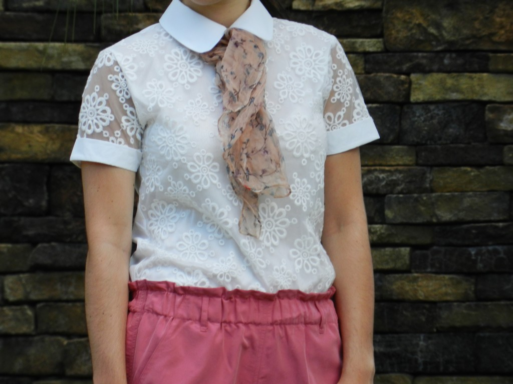 collar lace shirt